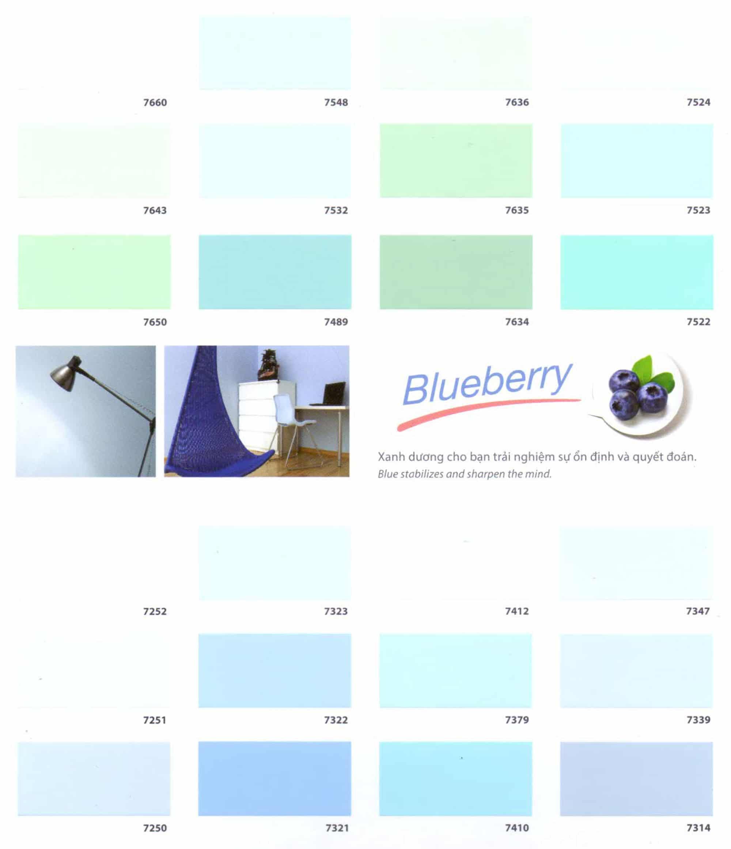 Bảng màu sơn TOA Superteck Pro nội - ngoại thất