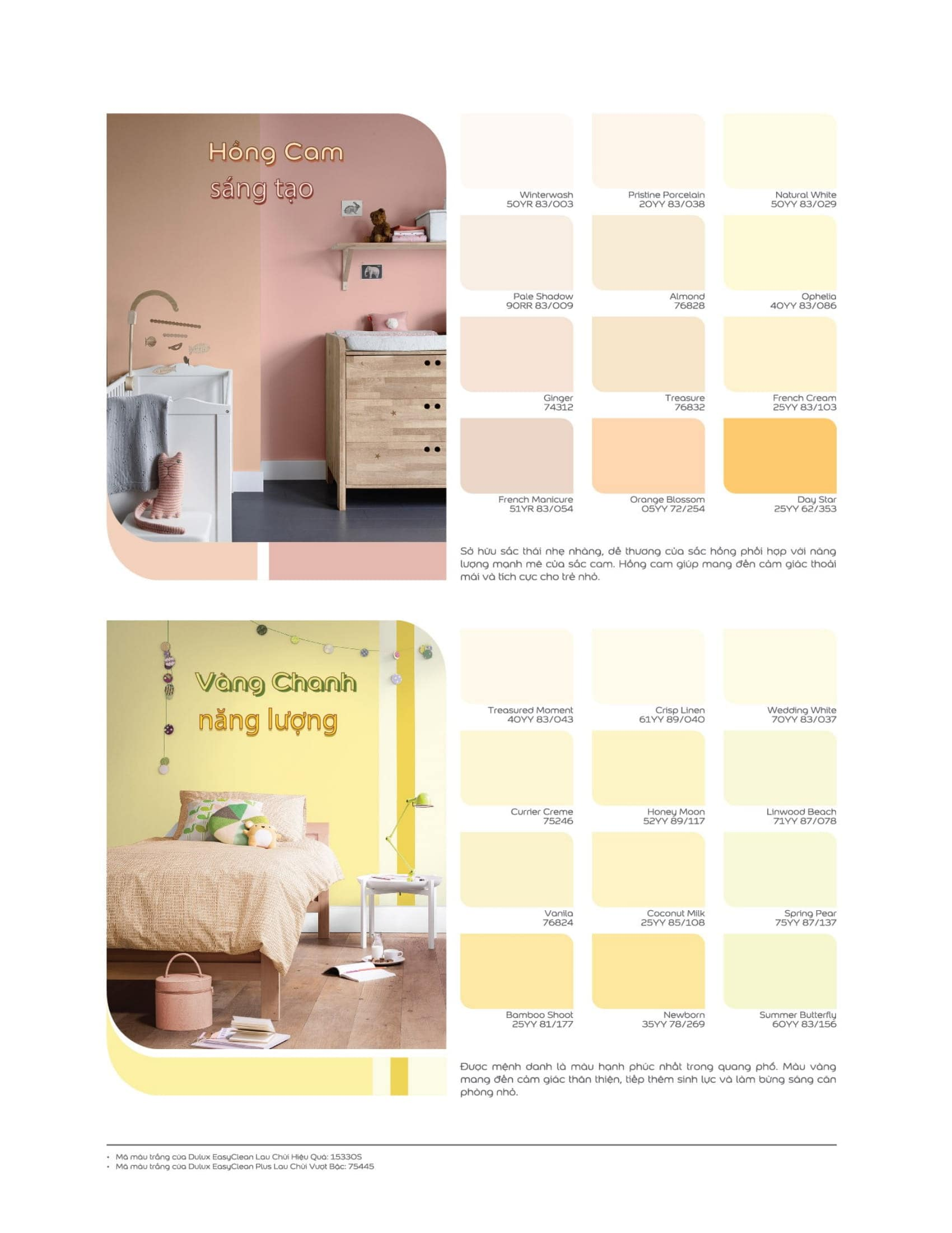 Một số bảng màu sơn Dulux