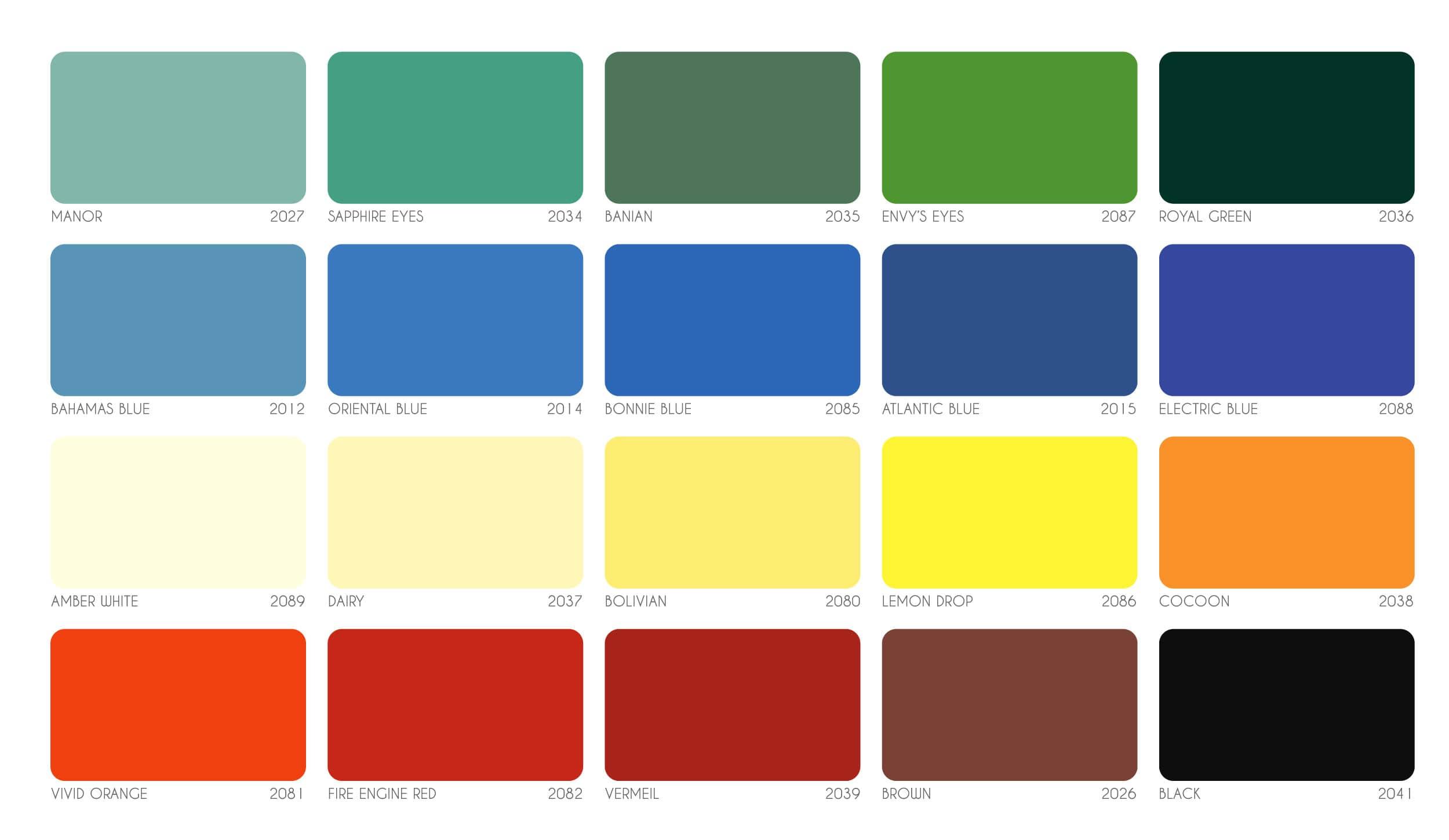 Bảng màu sơn công nghiệp Joton