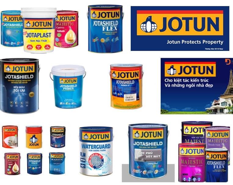 Các dòng sản phẩm sơn Jotun đang phân phối tại Việt Nam
