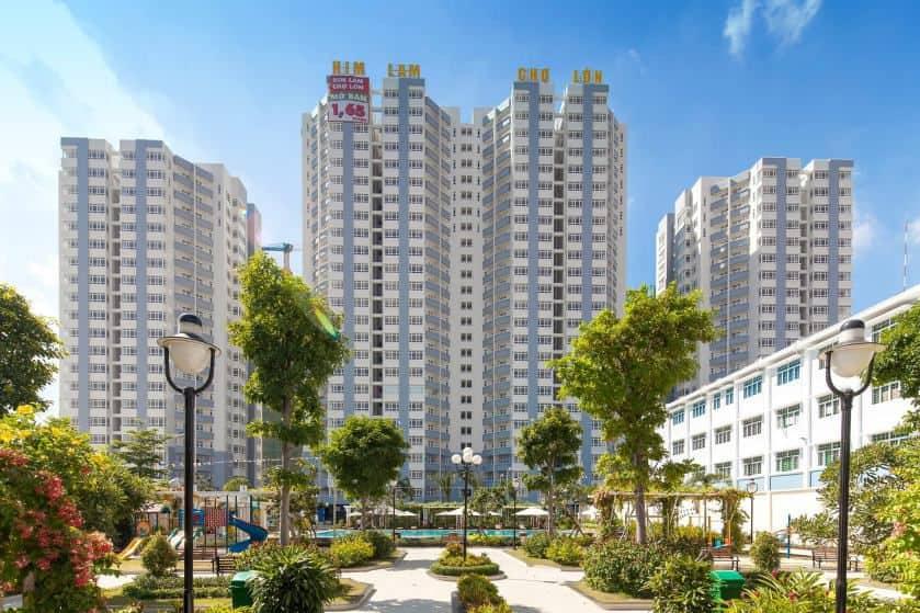 Khu chung cư Him Lam Riverside bao phủ bởi sơn Joton