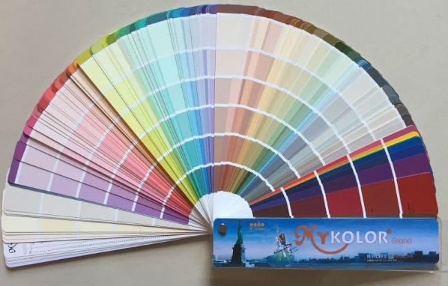 Bảng màu sơn Mykolor có tới 1099 mã màu sơn