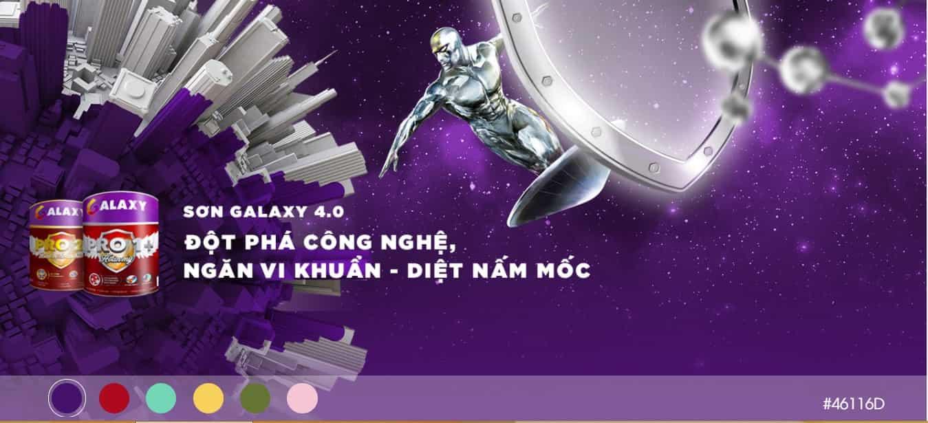 Sơn Galaxy - cảm hứng vô tận từ thiên hà