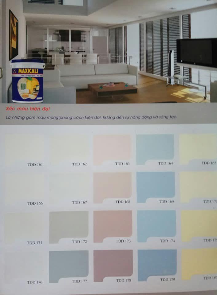 Bảng màu sơn Everest nội ngoại thất