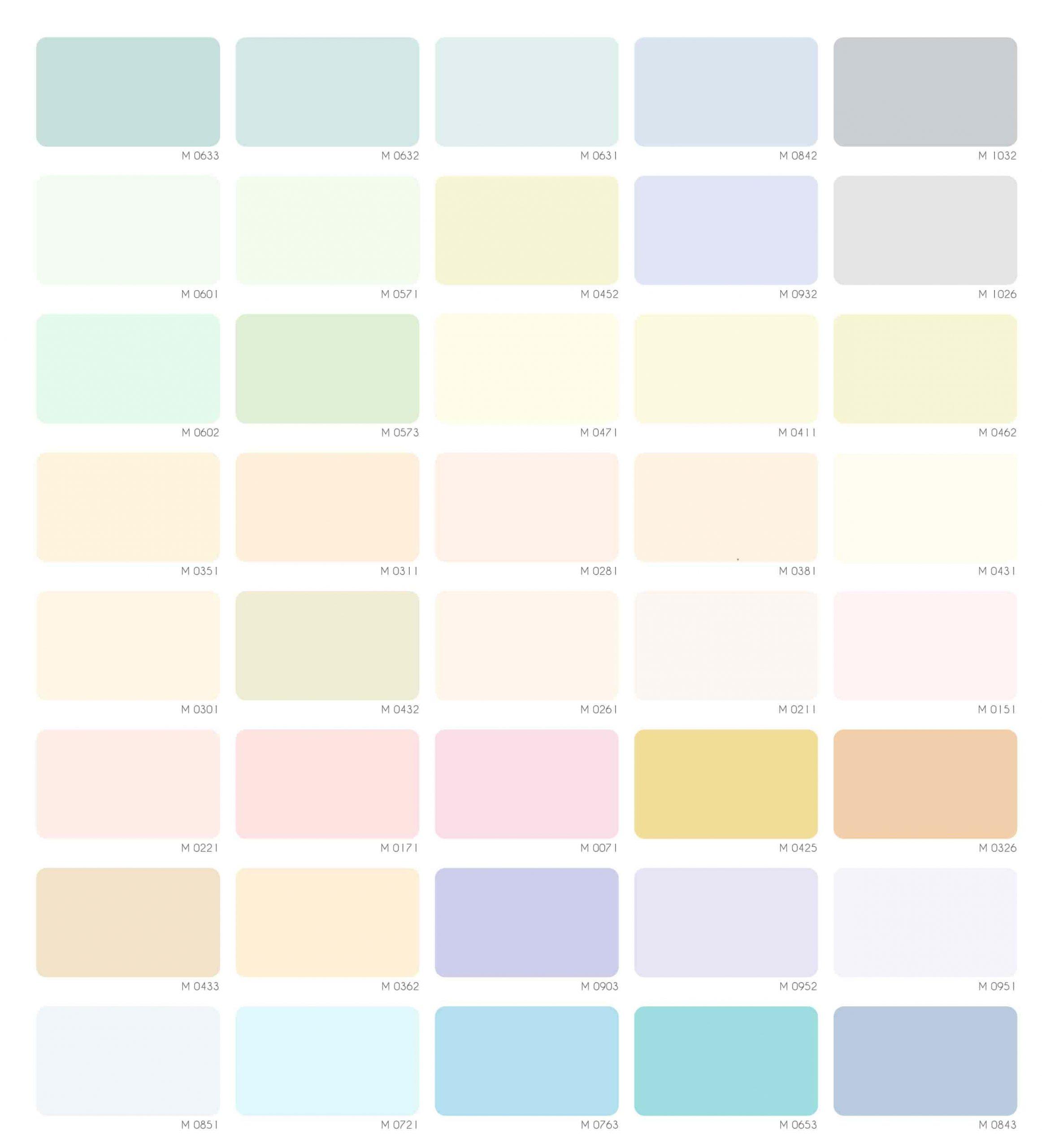 Bảng màu sơn nước Mykolor Ilka nội thất