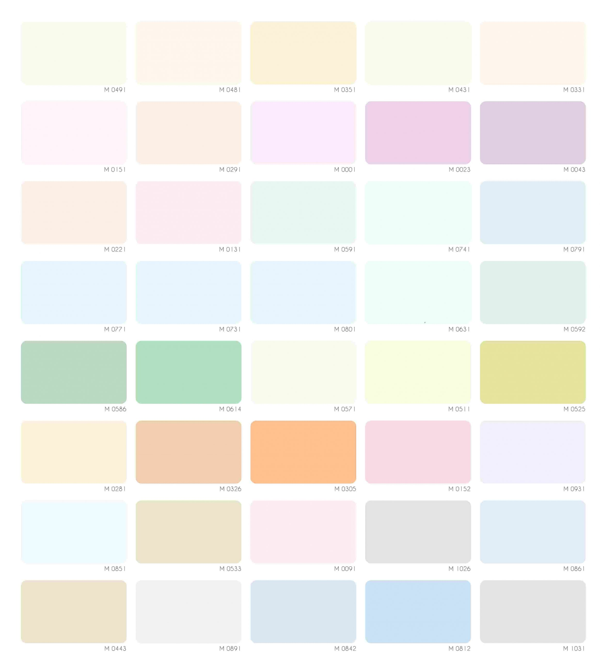 Bảng màu sơn nước Mykolor Semigloss nội thất