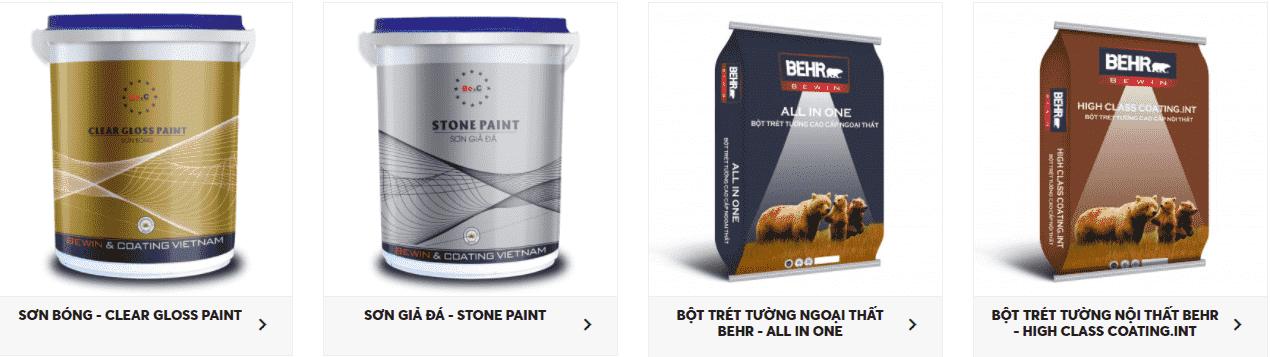 Các dòng sản phẩm sơn Behr