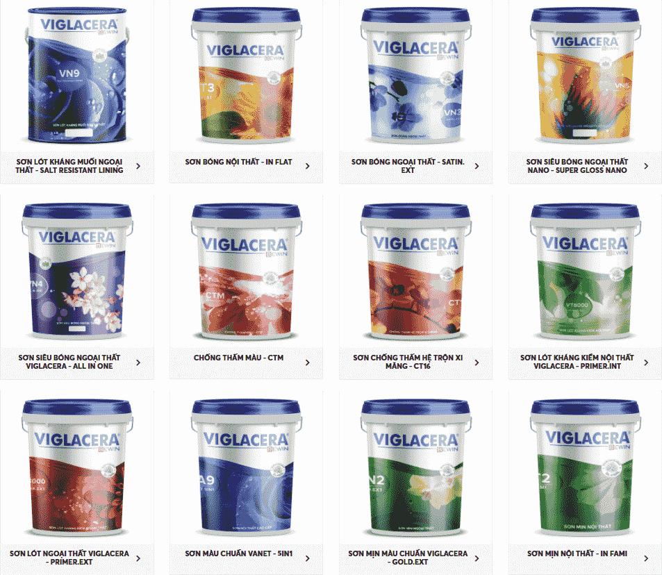 Các dòng sản phẩm sơn nước Viglacera
