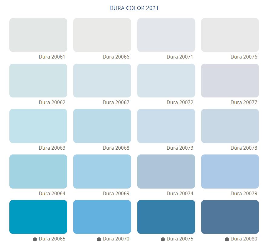Bảng Màu Sơn Dura - Tone màu xanh
