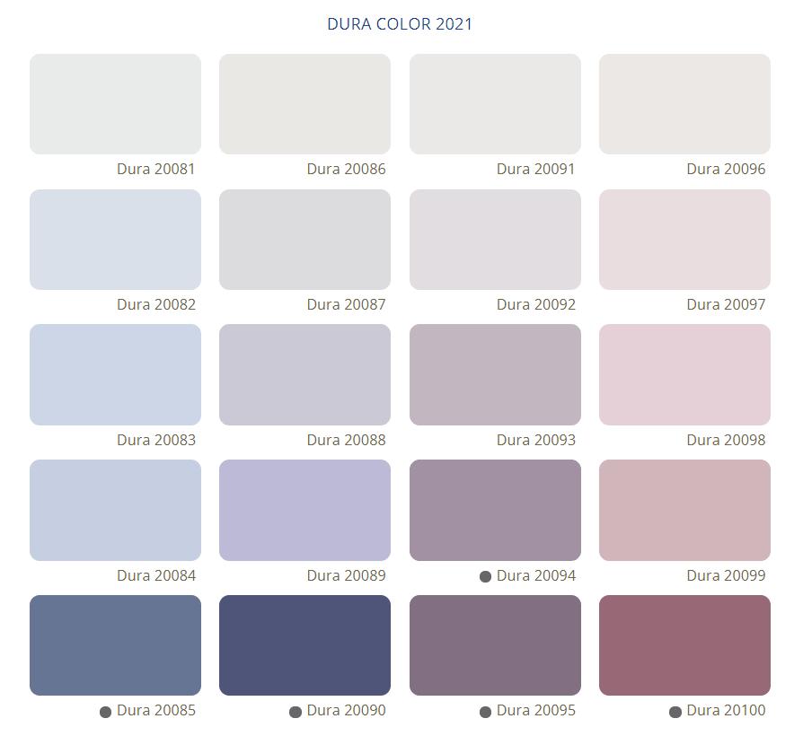 Bảng Màu Sơn Nước Dura - Tone màu tím