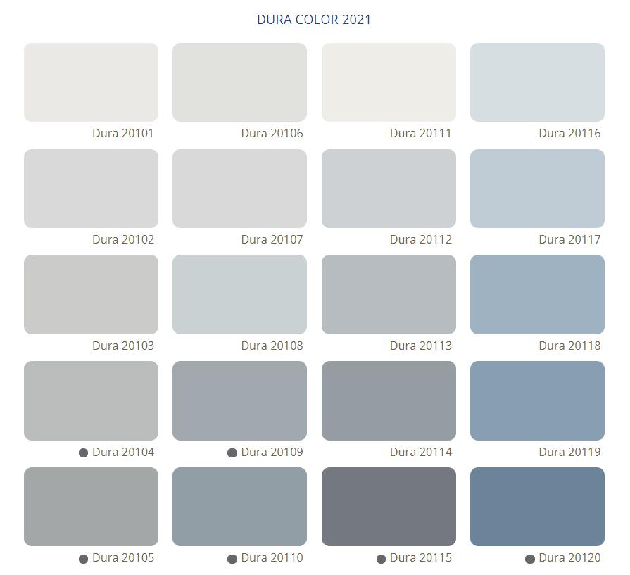 Bảng Màu Sơn Dura - Tone màu xám