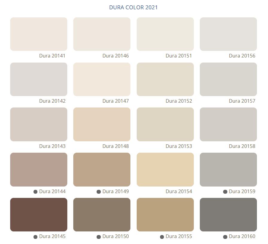 Bảng Màu Sơn Nước Dura - Tone màu xám nâu