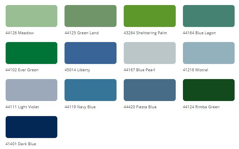 Bảng màu sơn ngoại thất Tison Unilux Ext