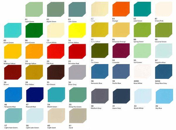 Bảng màu sơn Epoxy Rainbow