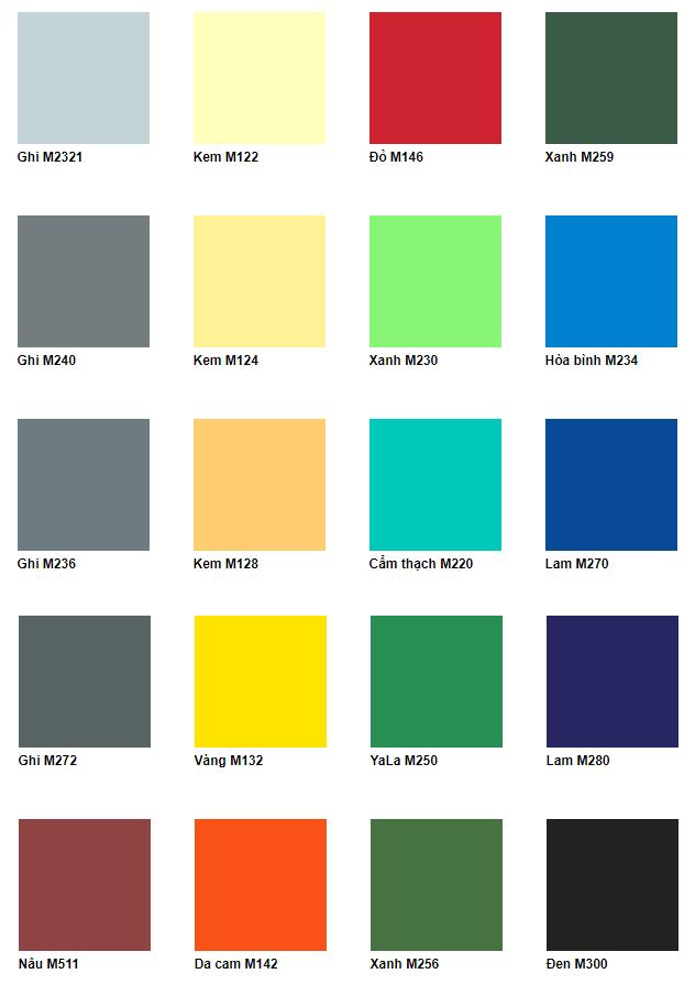 Bảng màu sơn tàu biển Hải Phòng