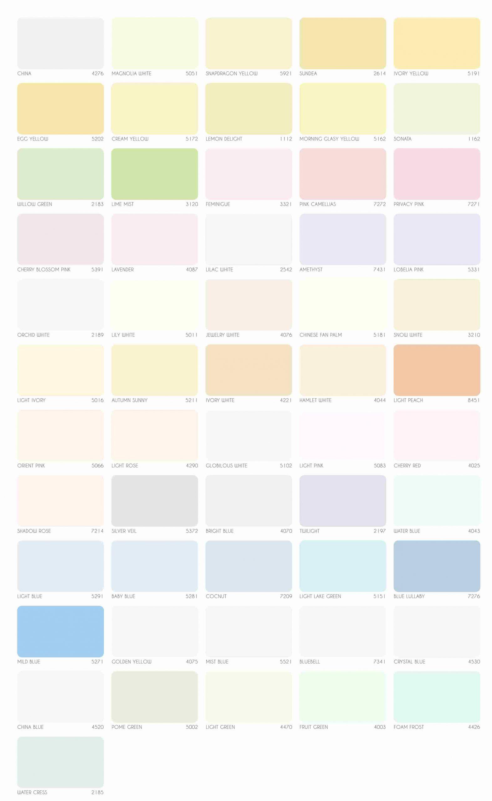 Bảng màu sơn nội thất Rainbow