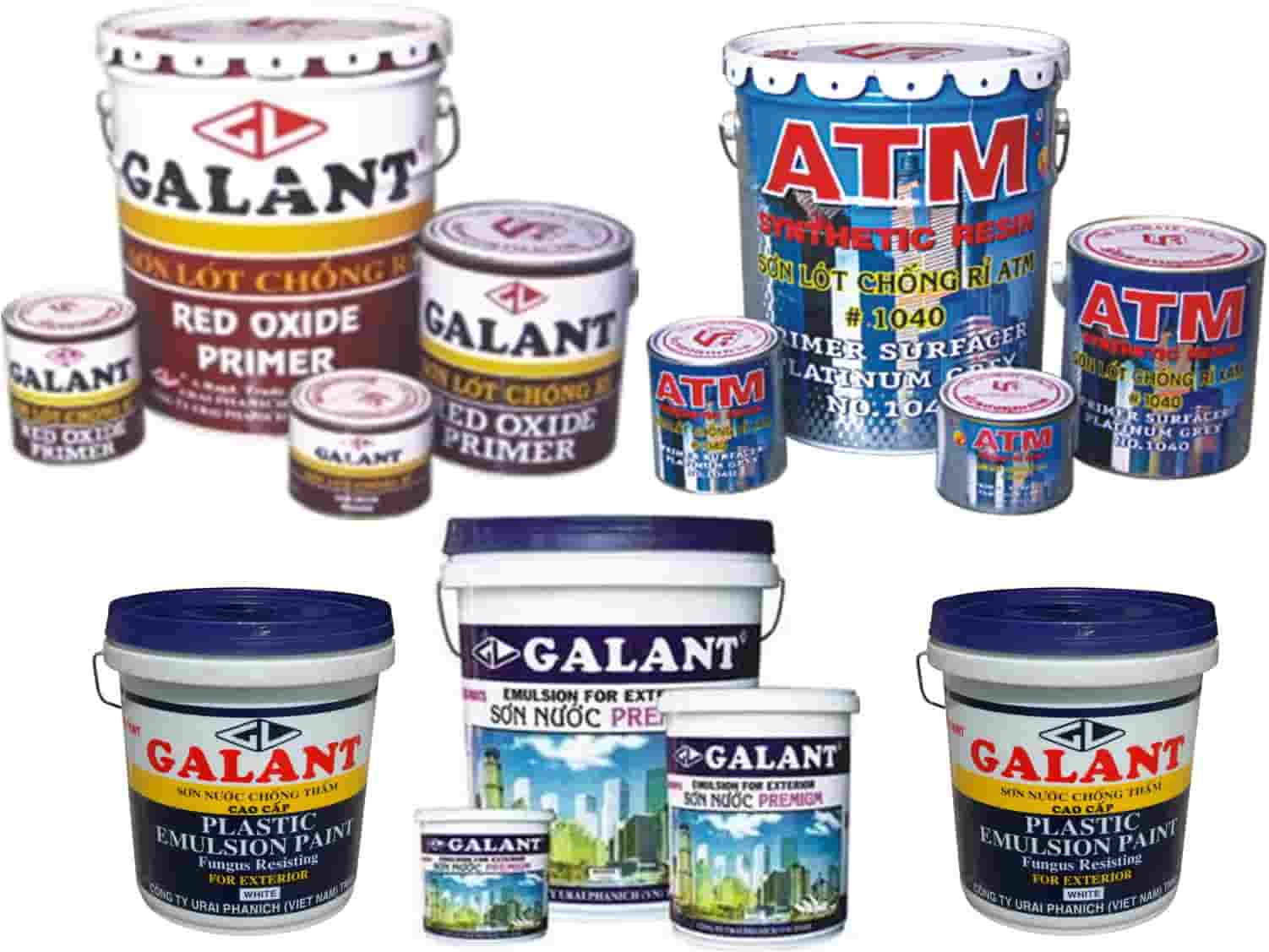 Các dòng sản phẩm sơn Galant