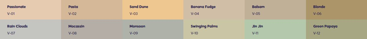 Bảng màu sơn Viglacera chống thấm màu