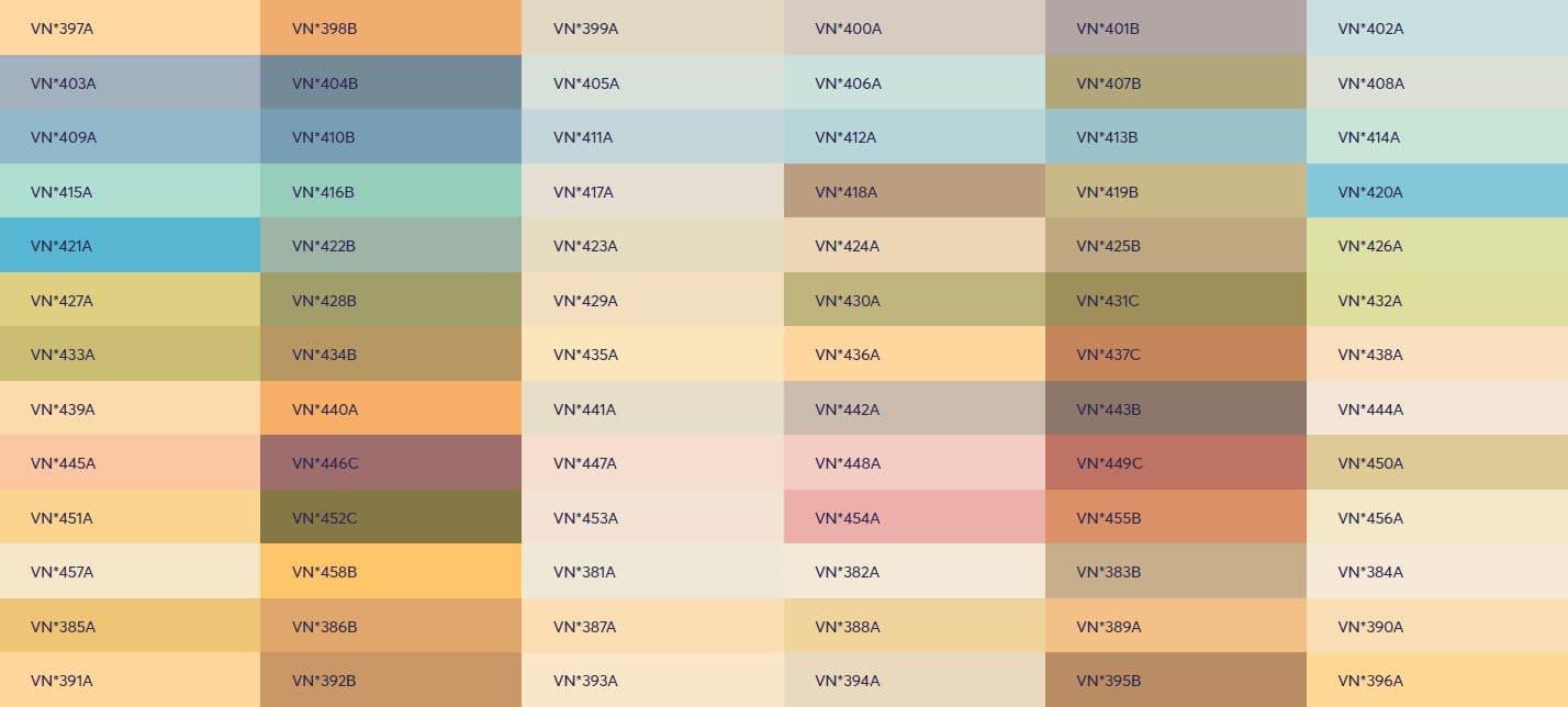 Bảng màu sơn ngoại thất Viglacera