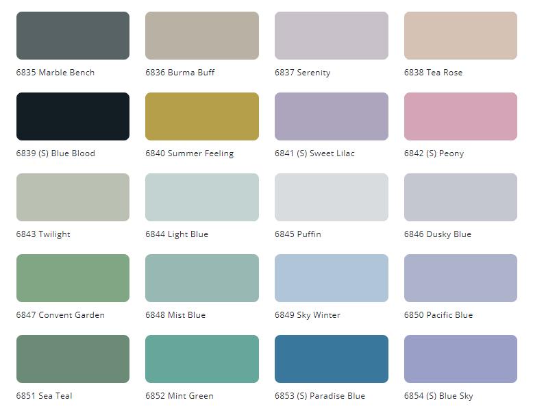 Bảng màu sơn nội thất Tison Unilic Int