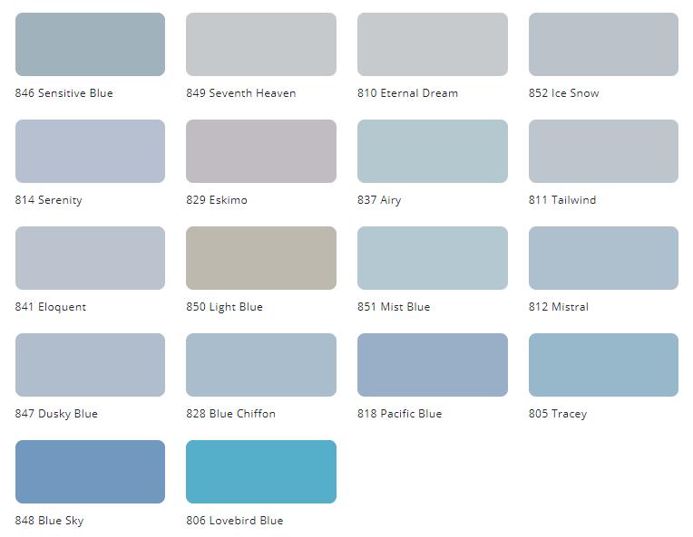 Bảng màu sơn Tison nội thất Unilux